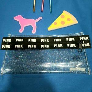 PINK Victoria's Secret Bags - VS PINK pens, notepads & case RARE